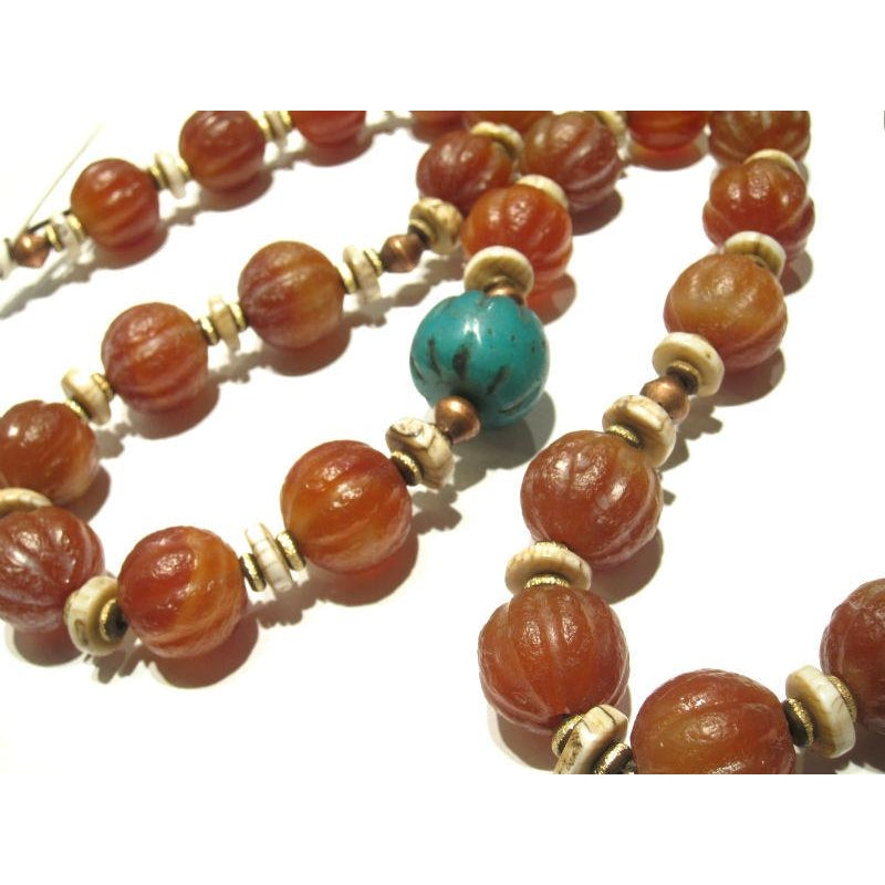 Contemporary Indian Carnelian Heirloom Necklace 6