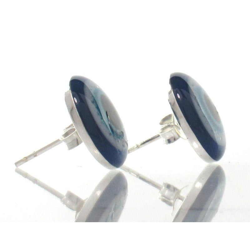 """Evil Eye"" Sterling Silver Stud Earrings"