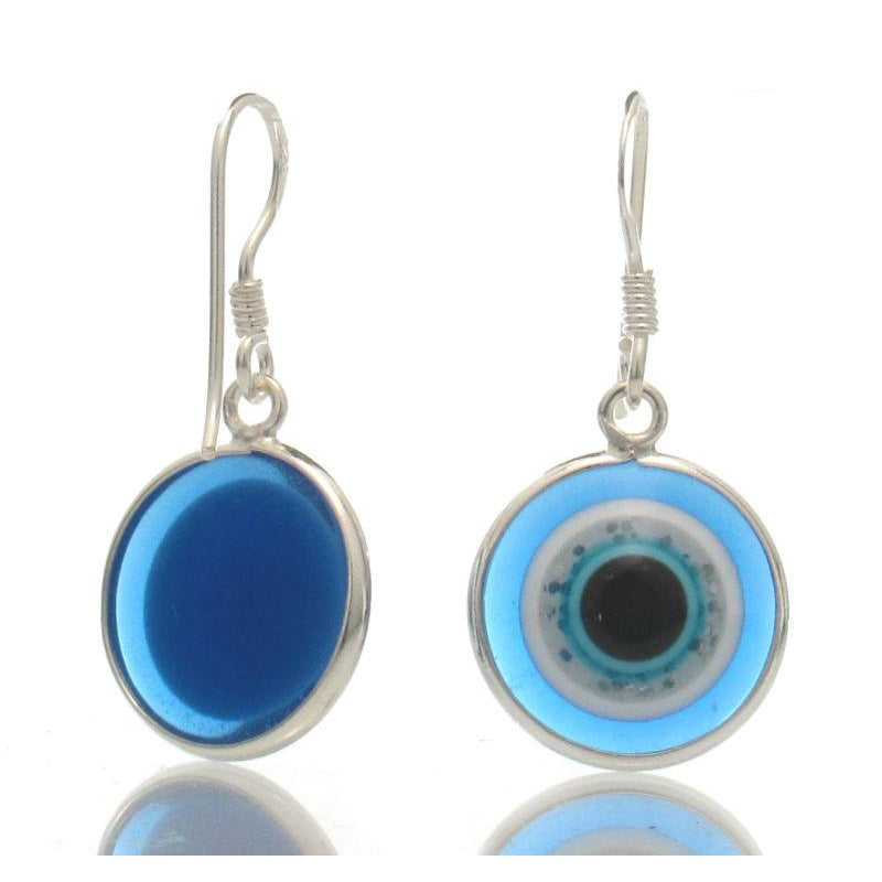 """Evil Eye"" Sterling Silver Earrings"