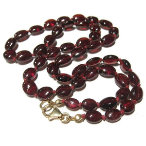 Garnet Necklace with Gold Filled Lobster Claw Clasp