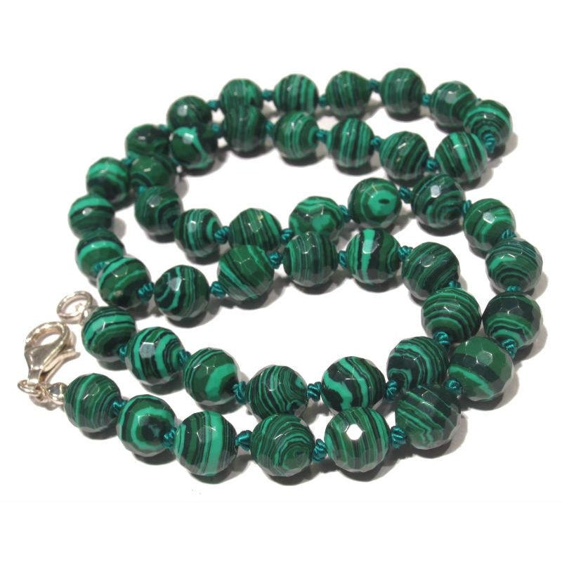 Malachite necklace with sterling silver trigger clasp beads of malachite necklace with sterling silver trigger clasp malachite necklace with sterling silver trigger clasp aloadofball Choice Image