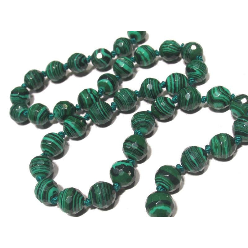 Malachite Necklace with Sterling Silver Trigger Clasp