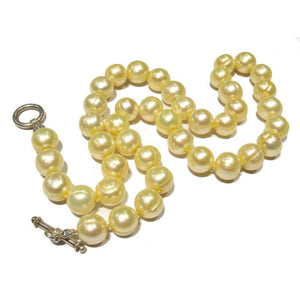 Fresh Water Pearl Necklace with Sterling Silver Toggle Clasp