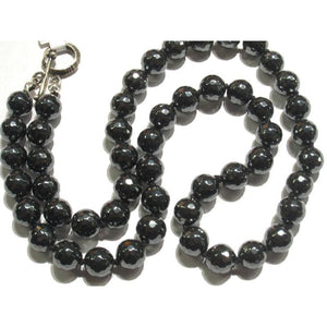 Hematite Necklace with Sterling Silver Toggle Clasp