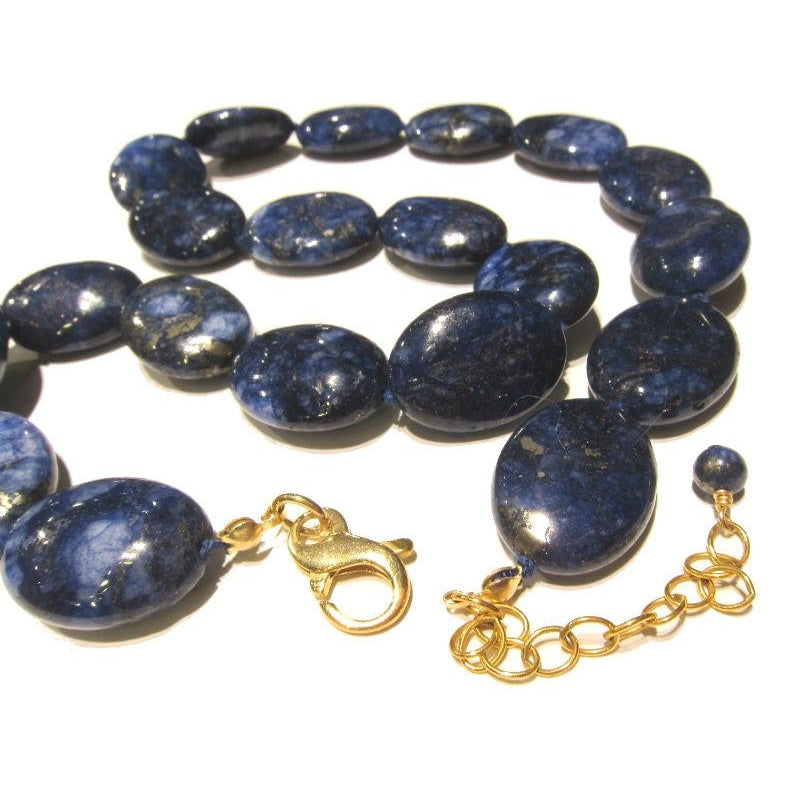 Lapis Lazuli Smooth Oval Necklace