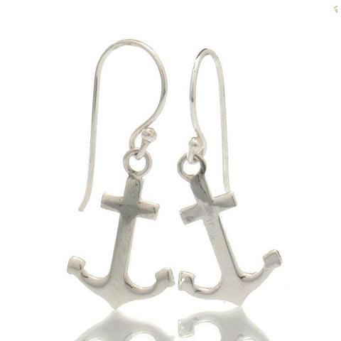 Sterling Silver Mini Anchor Earrings