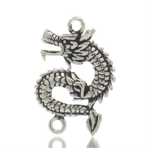 Sterling Silver Dragon Pendant with Connectors