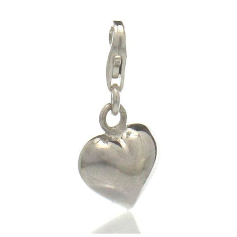 Sterling Silver Heart Charm with Clasp