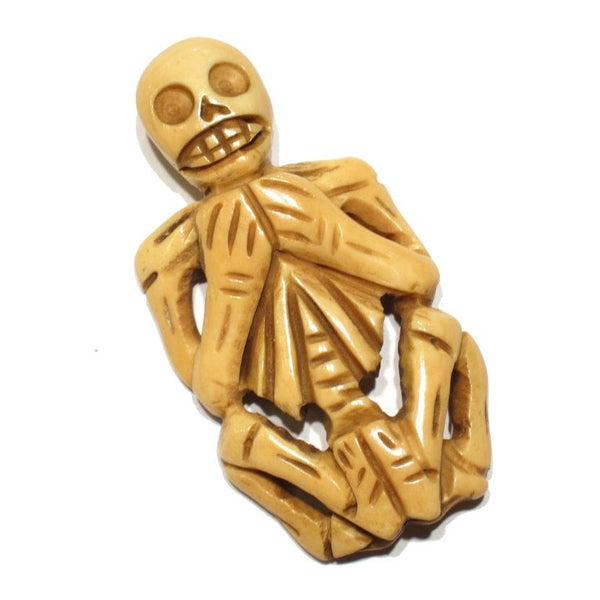Yaoguai Skeleton Hand Carved Cow Bone Pendant