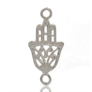 Sterling Silver Mini Hamsa Connector/Pendant