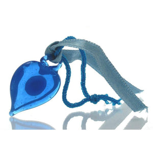 Evil Eye Glass Heart Ornament