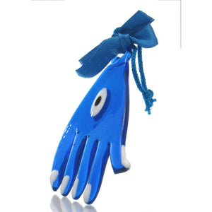 Evil Eye Glass Hand Ornament