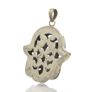 Hollow Hamsa Pendant, Small