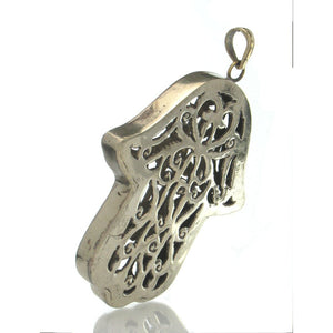 Hollow Hamsa Pendant, Large