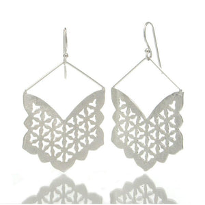 Sterling Silver Butterfly Cut-Out Earrings