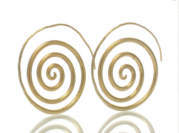 Gold Plated Over Sterling Silver Spiral Earrings