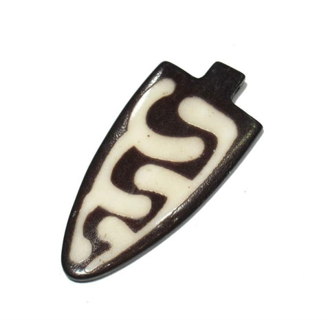 Turkana Arrow Shape Hand Carved Cow Bone Pendant