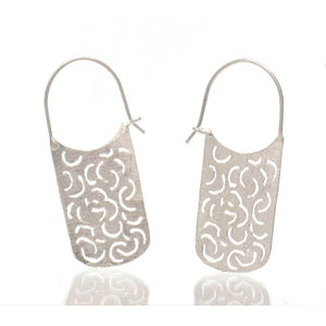 Sterling Silver Bean Sprout Earrings