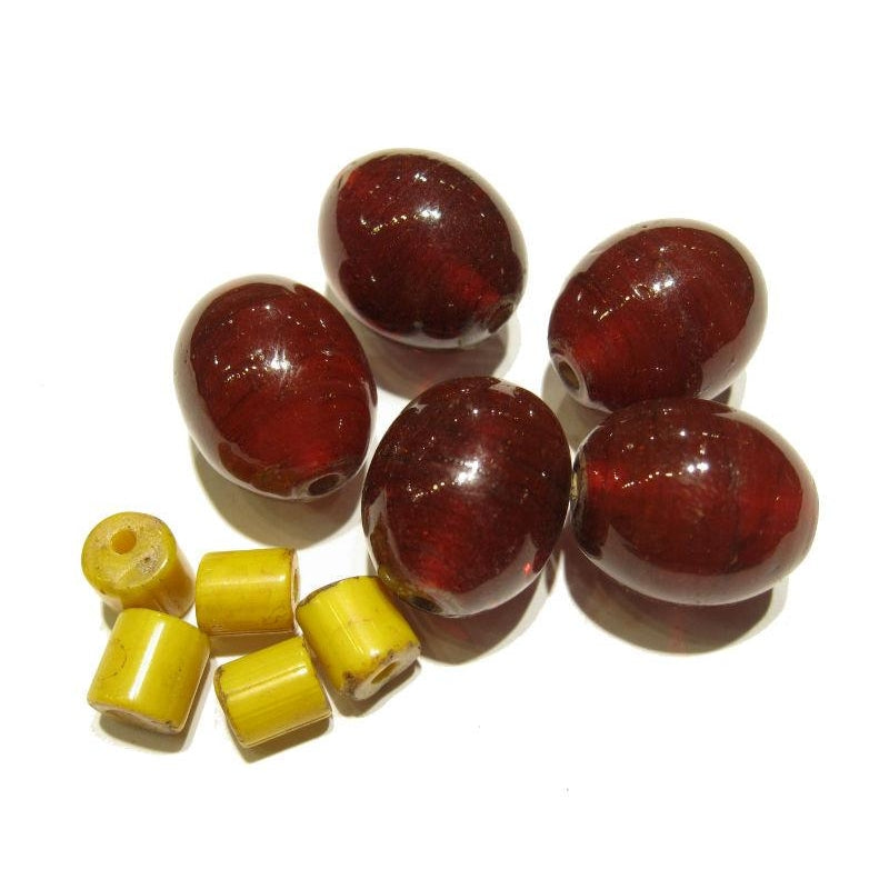 """Naga Style Cherry Tomatoes"" Glass Trade Bead Strand/Loose Beads"