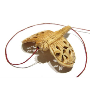 """Victory Dragonfly"" Hand Carved Cow Bone Pendant"