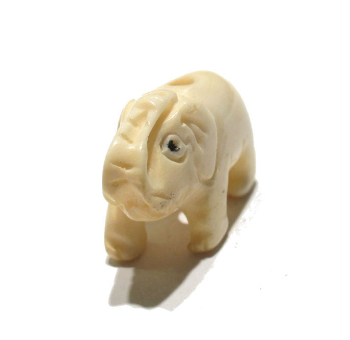 Elephant Hand Carved Cowbone Pendant/Bead