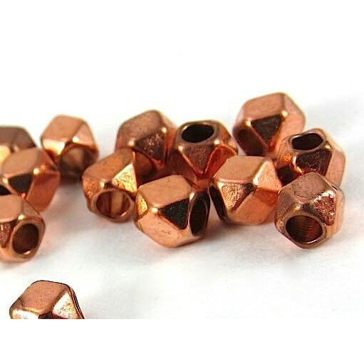 Copper Faceted Bead Strand