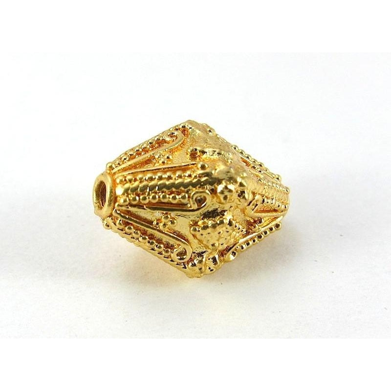 22K Gold Plated Over Sterling Silver Bead #11