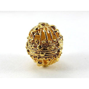 22K Gold Plated Over Sterling Silver Beads 14