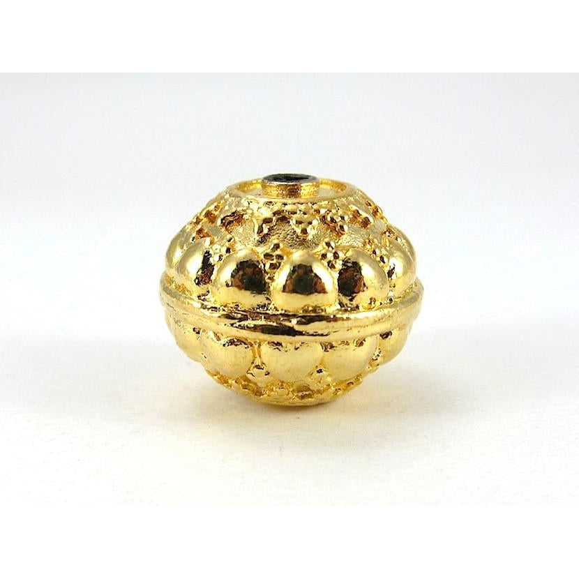 22K Gold Plated Over Sterling Silver Bead #15