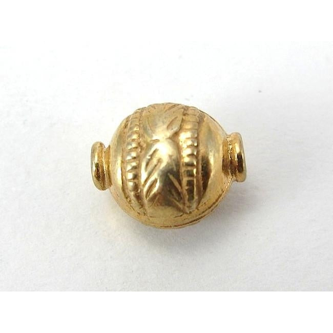 22K Gold Plated Over Sterling Silver Bead