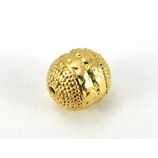 22K Gold Plated Over Sterling Silver Beads #6
