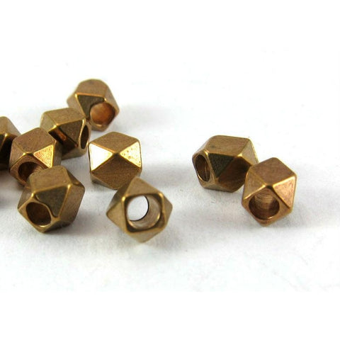 Brass Over Copper Faceted Bead Strand