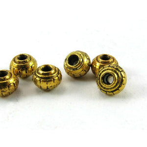 Base Metal Gold Plated Bead Strand
