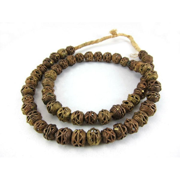 Lost Wax Cast Brass Round Bead Strand