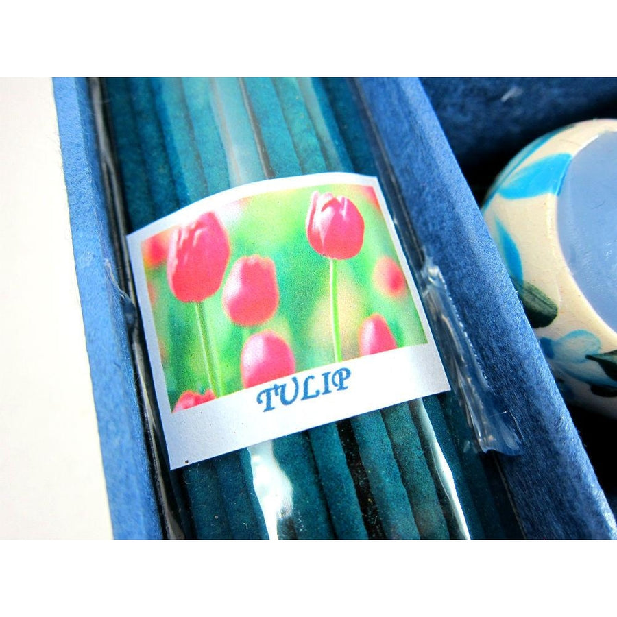 Tulip Incense & Candle Gift Set