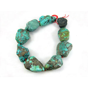 Chinese Turquoise Natural Nuggets XL Strand