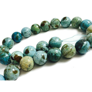 Opal Blue Smooth 16mm Rounds Strand