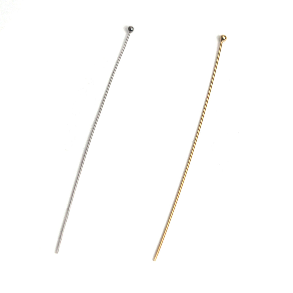 Sterling Silver/Gold Filled Ball Pins 2""
