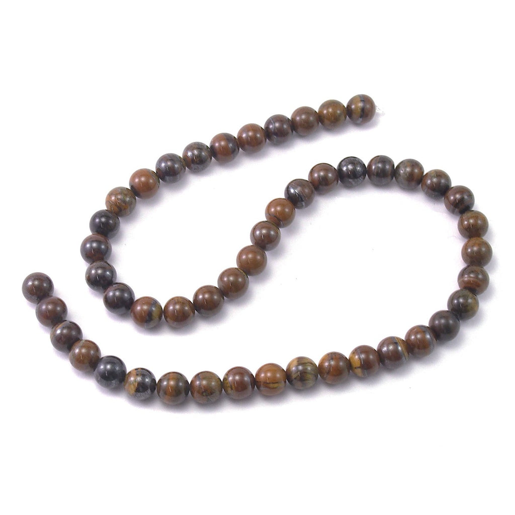 Tiger Jasper Smooth Rounds 8mm Strand