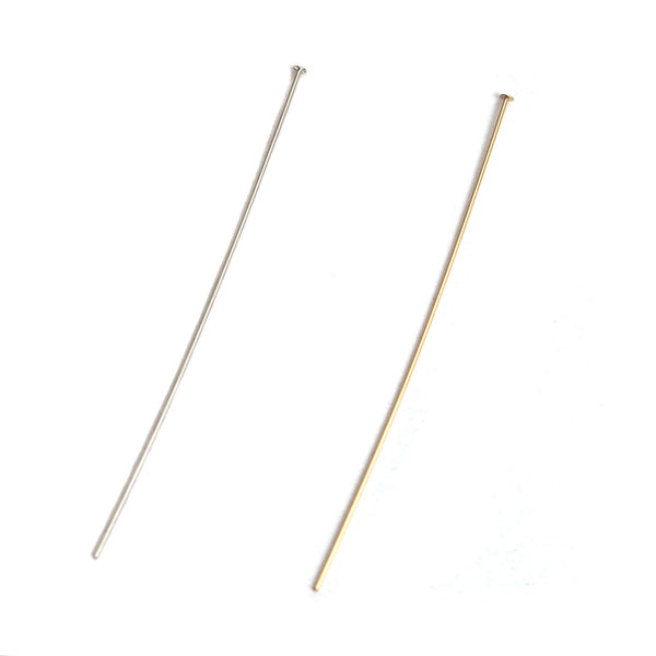 Sterling Silver/Gold Filled Head Pins 2""