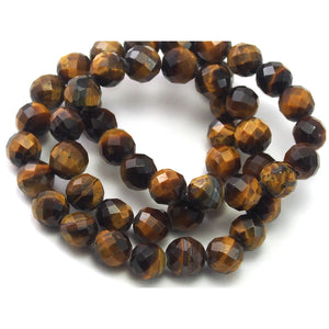 Tiger's Eye Faceted Rounds 8mm Strand