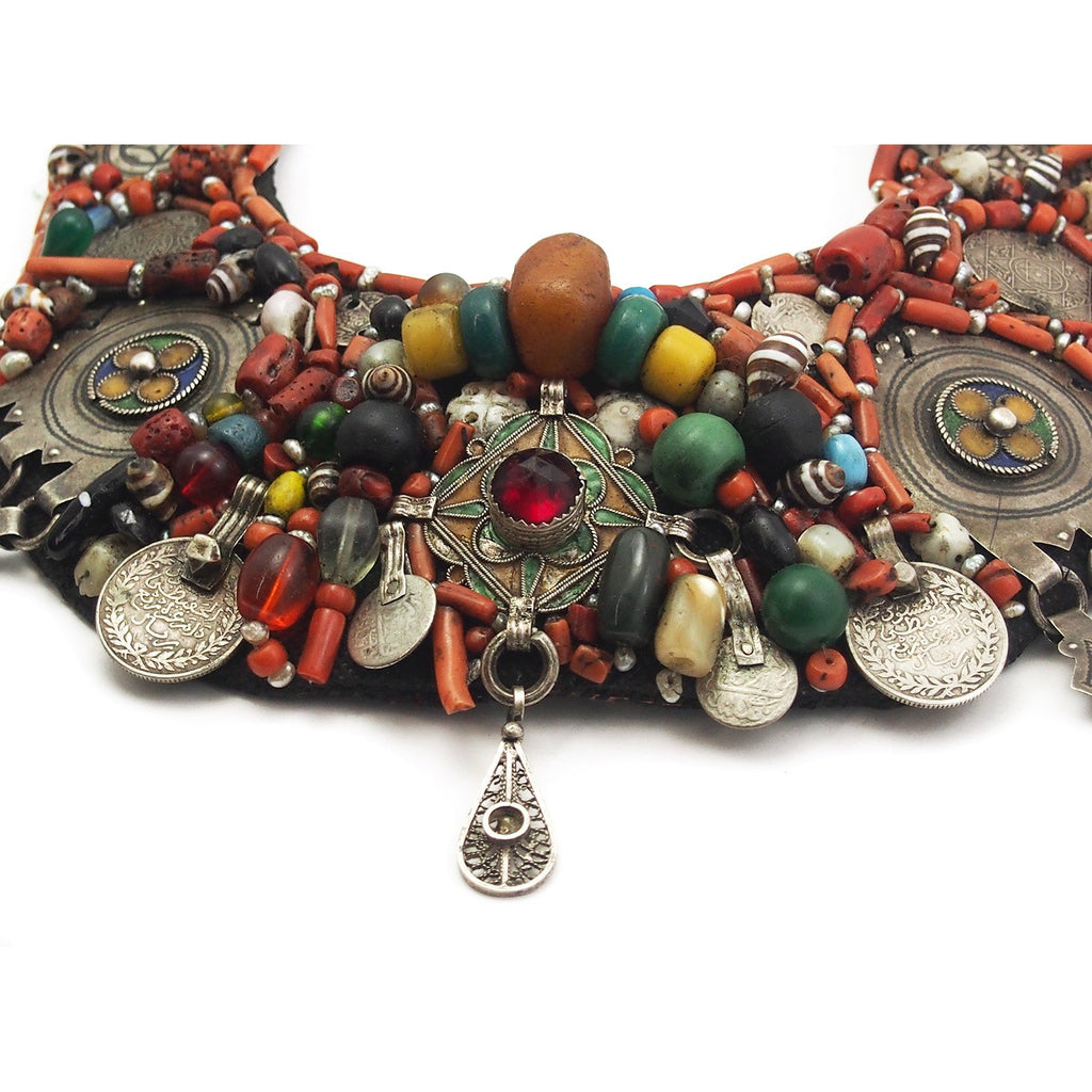 Berber Heirloom Coral/Silver Bib, A