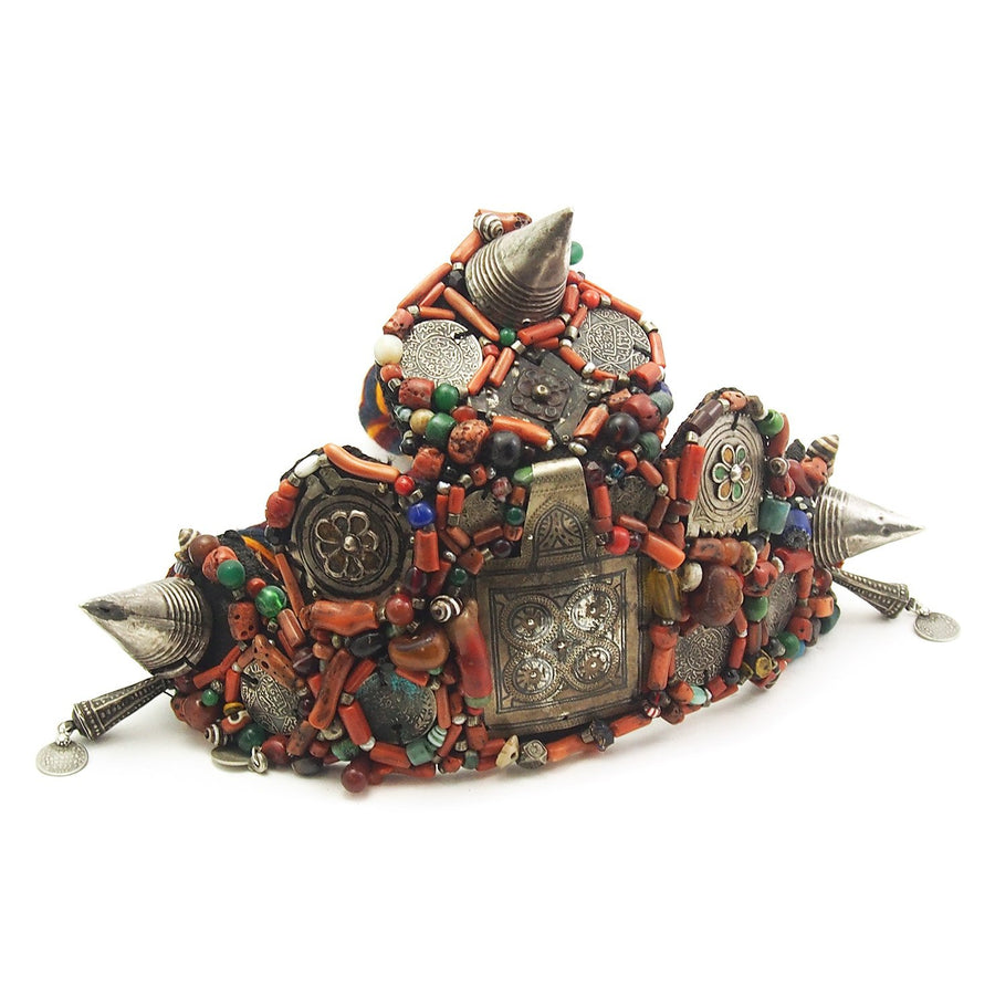 Berber Heirloom Coral Dowry Crown, B
