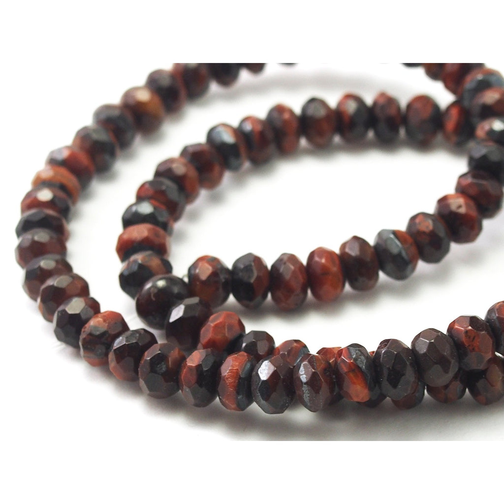 Tiger's Eye Faceted Rondelles 6mm Strand