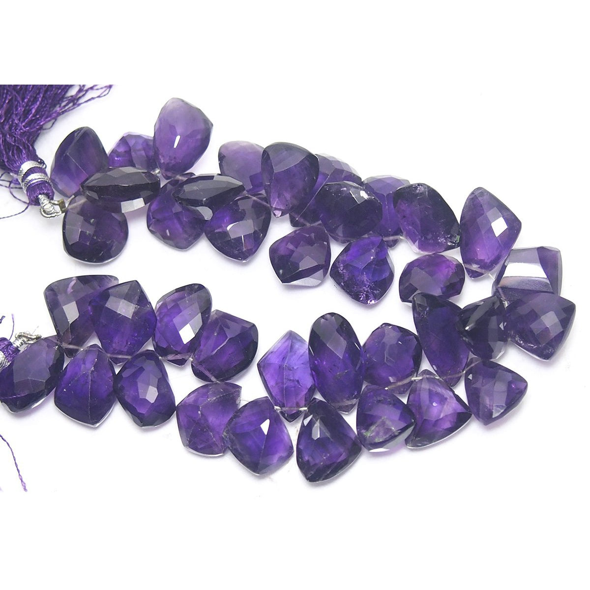 Amethyst Fine Faceted Drops Strand