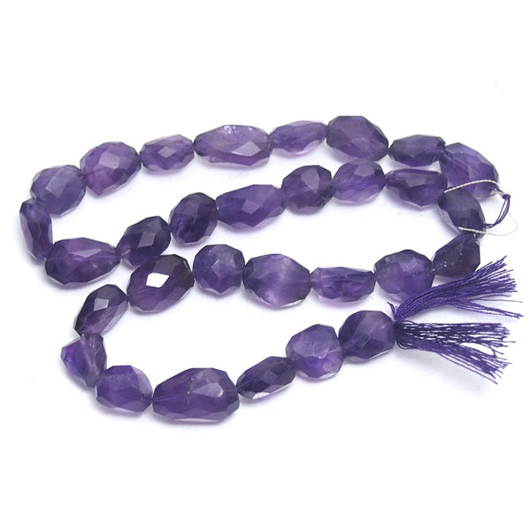 Amethyst Faceted Nuggets Small Strand