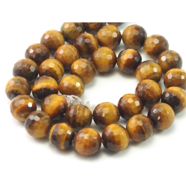 Tiger's Eye Faceted Rounds 12mm Strand