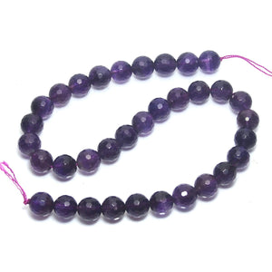 Amethyst Faceted Rounds 12mm Strand