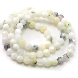 Opal White Faceted Rounds 4mm Strand