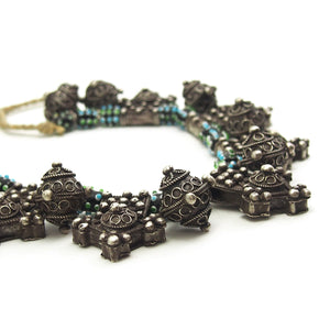 Berber Bead/Boghdad Cross Necklace